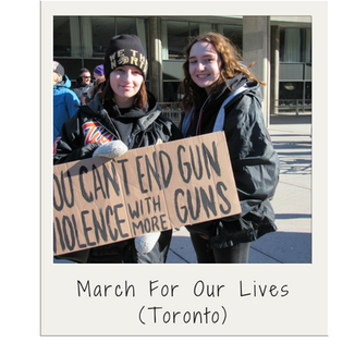 March For Our Lives, March For Our Lives Toronto, protesting gun violence, no more guns, Toronto rally, Janet Fanaki, resilient people, resilience, resilient